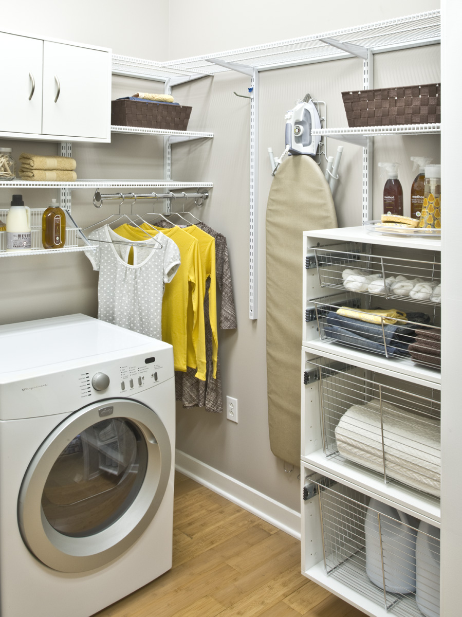laundry room shelving ideas for small spaces you need to. Black Bedroom Furniture Sets. Home Design Ideas