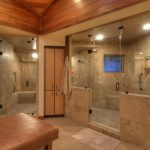 awesome shower ideas for master bathroom with double glass walk in shower with adorable wall and floor ideas