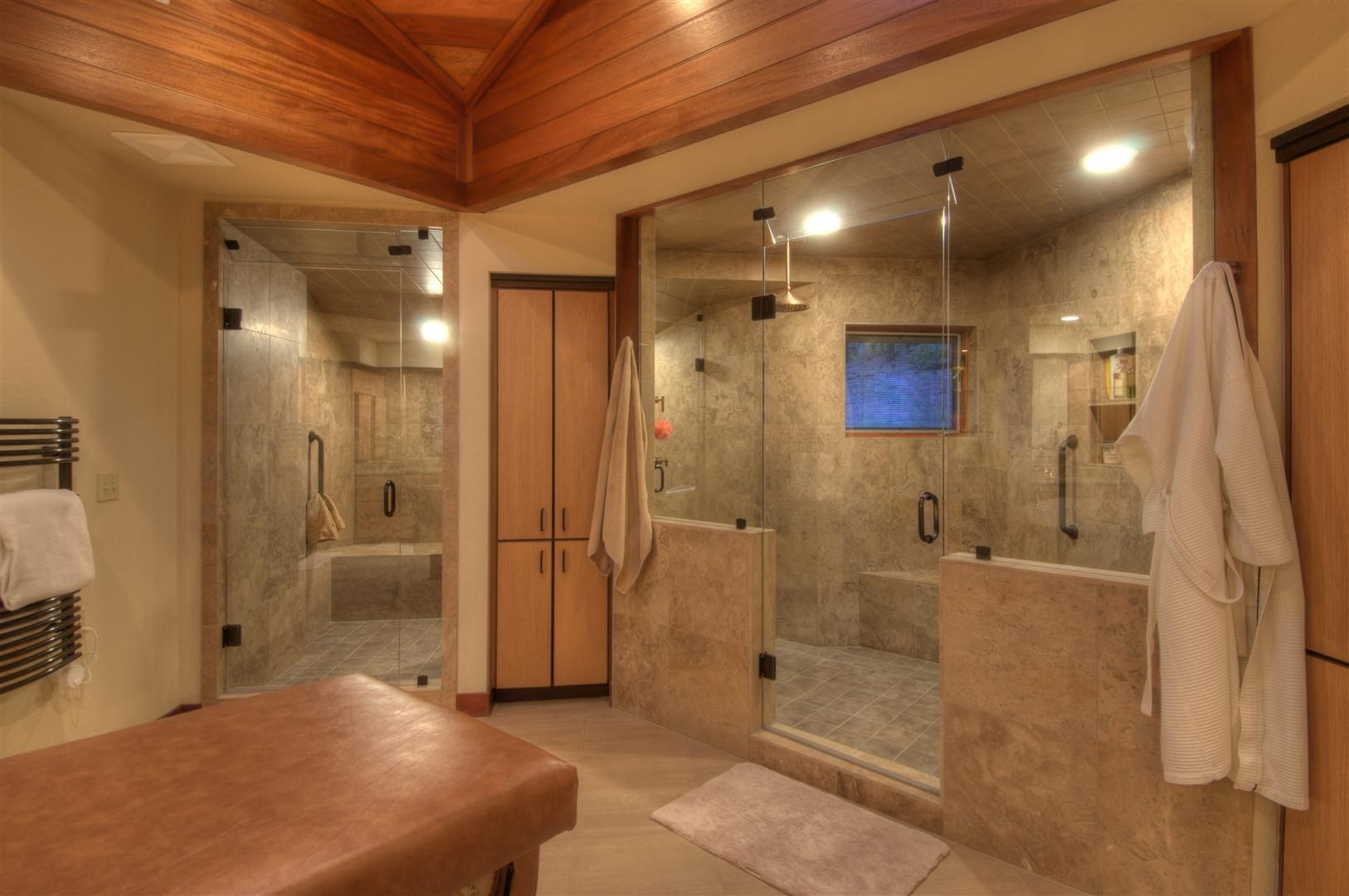 Awesome Shower Ideas For Master Bathroom With Double Glass Walk In Adorable Wall And