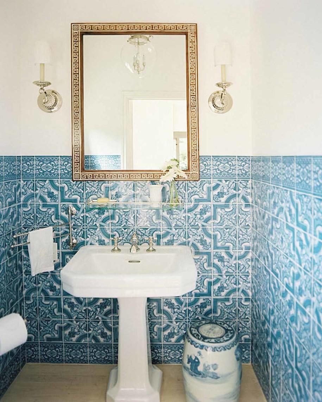 Beautiful Blue Tile Bathroom Color