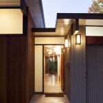 Best Exterior House Design With Wooden Siding And Wall Lighting And Sliding Glass Door