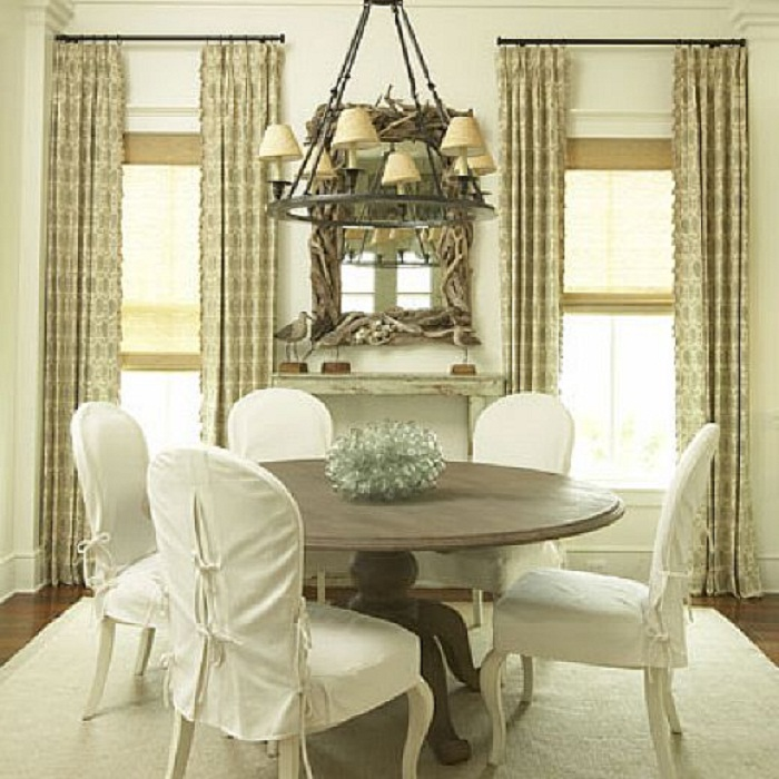 Elegant Slipcover For Dining Room Chairs Stylish Look Homesfeed