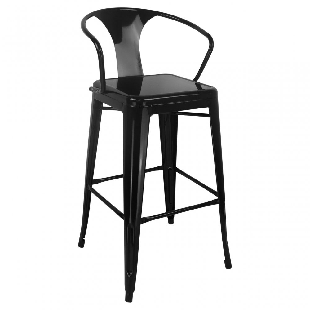 Metal Bar Stools With Back. Tolix Tabouret Stool With Short Back ...