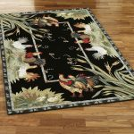 black rooster kitchen rugs in rectangular shape decorated on wooden floor for kitchen