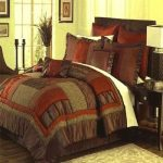 brown california king bed comforter sets for luxurious bedroom ideas decorated with brown night stand with luxurious table and decorative ruf and hardwood floor
