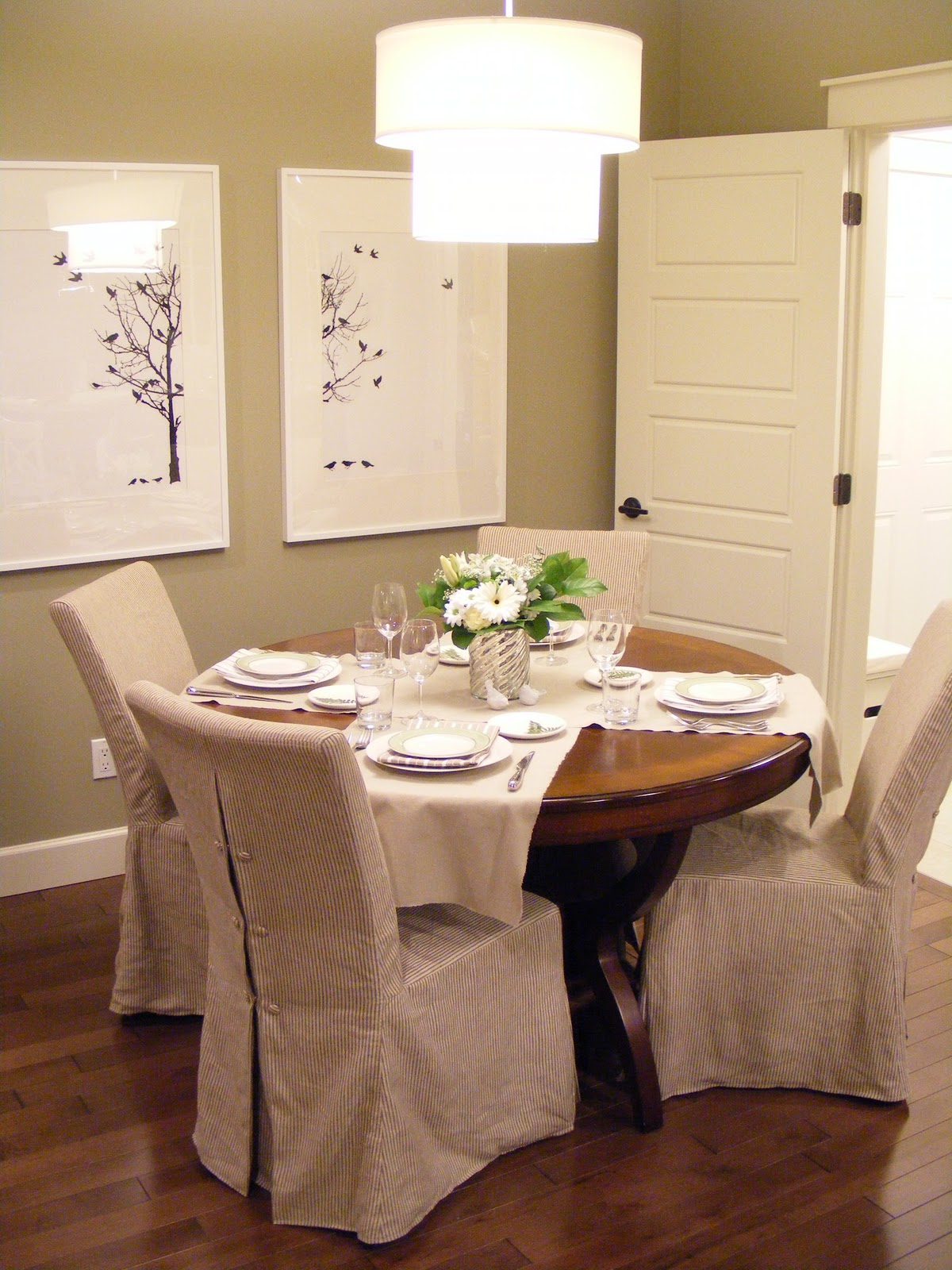 Dining Room Chair Slipcovers Brown Chair Covers Dining Room Chair