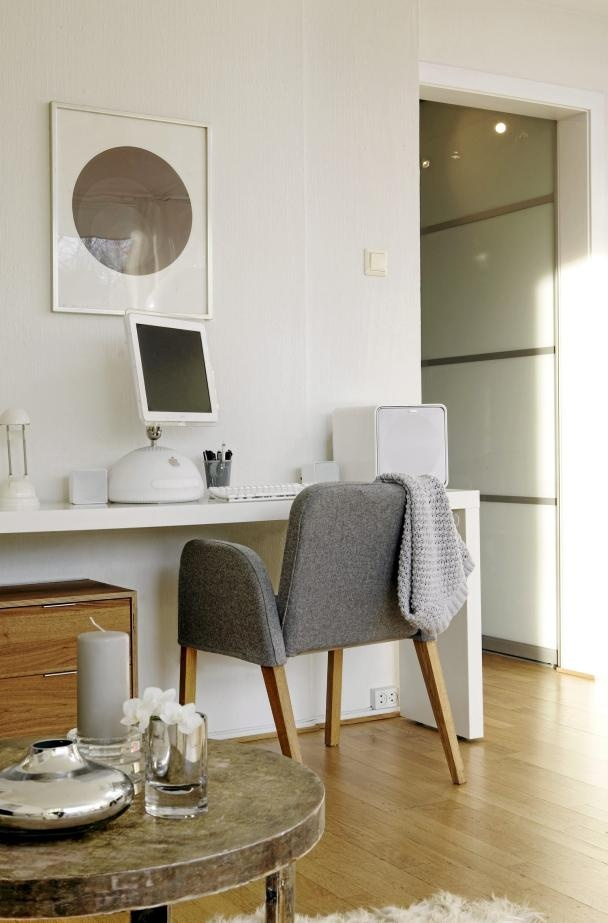 Captivating Console Tables Ikea For Home Office Ideas With Uniqu Grey  Upholstered Chair And Wooden Drawers