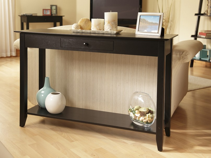Narrow side table for living room