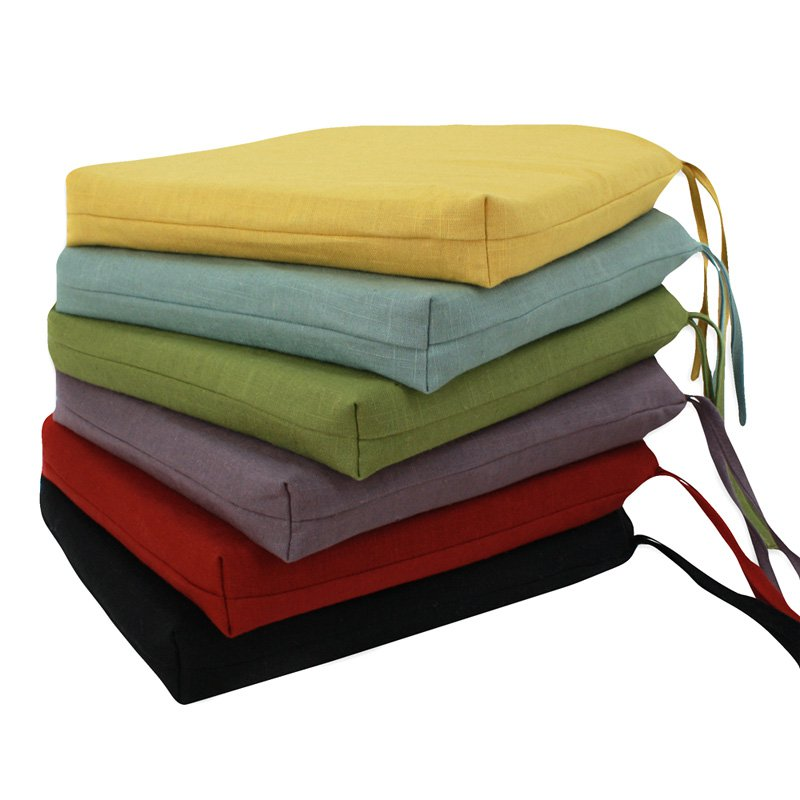 Colorful Dining Room Seat Cushion Idea In Yellow Blue Green Purple Red And Black Color
