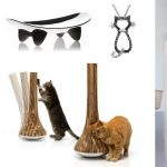 contemporary cat furniture idea with tube shape and log and half pipe idea