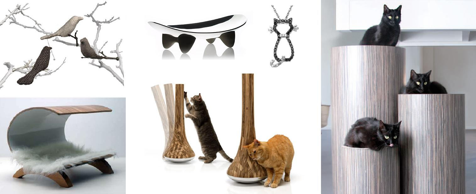 contemporary cat furniture for urban pet lovers  homesfeed - contemporary cat furniture idea with tube shape and log and half pipe idea
