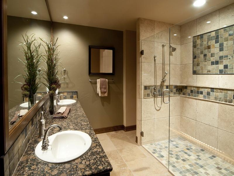Contemporary Shower Ideas For Master Bathroom With Beautiful Walk In Plus Luxurious Vanity Units