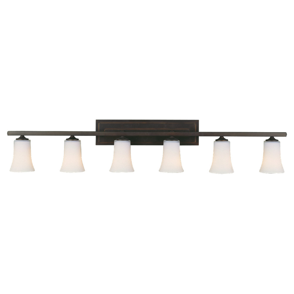 country bathroom decorating ideas with boulevard 6 light vanity fixture - Fill Your Bathroom Vanity With Dramatic Lights By Installing 6