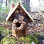 creative-and-decorative-Bird-House-Handmade-From-Wood-with-the-Functional-Maple-Log-for-outdoor-space-place-in-the-bakcyard