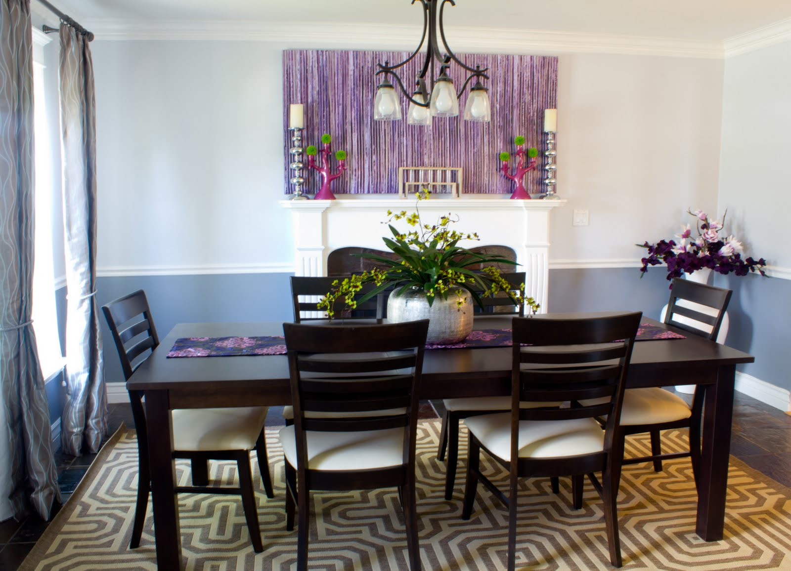 dining room seat cushions in natural design together with dark finishing and attractive patterned rug plus