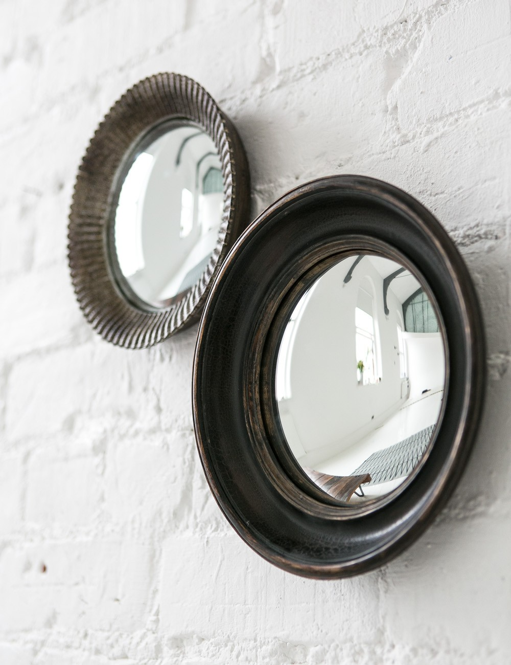 small convex mirror for creating striking wall decoration homesfeed