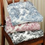 elegant floral pattern for winter mood of dining room seat cushion idea with wooden chair