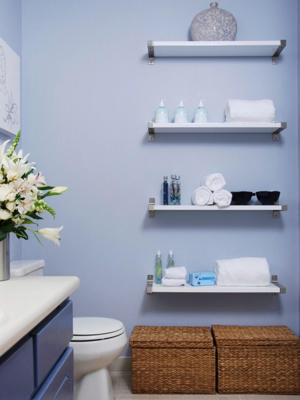 Best Bathroom Wall Shelving Idea to Adorn Your Room   HomesFeed