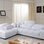 elegant white ikea leather couch idea with loveseat and cushions and tufted pattern and wooden coffee table