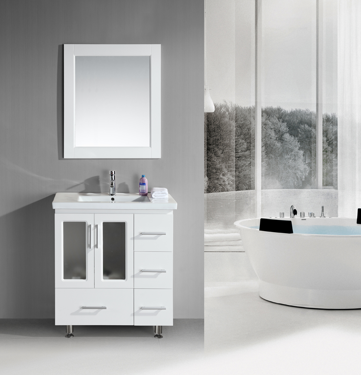 Elegant White Bathroom Ideas Creditrestore Us