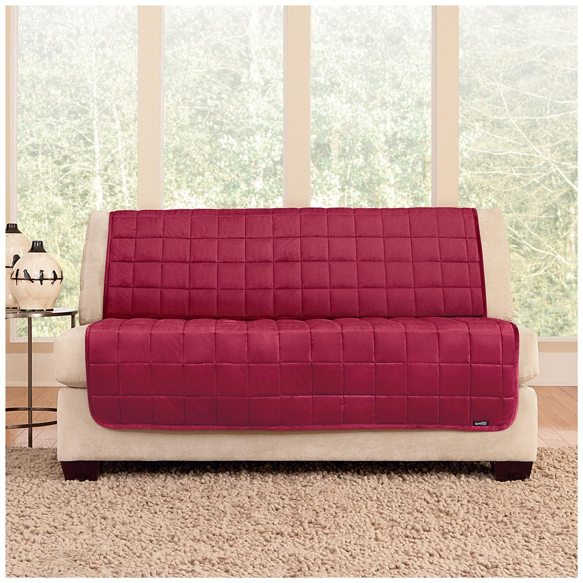 Loveseat Slipcover Chocolate Reversible Pet Loveseat Cover
