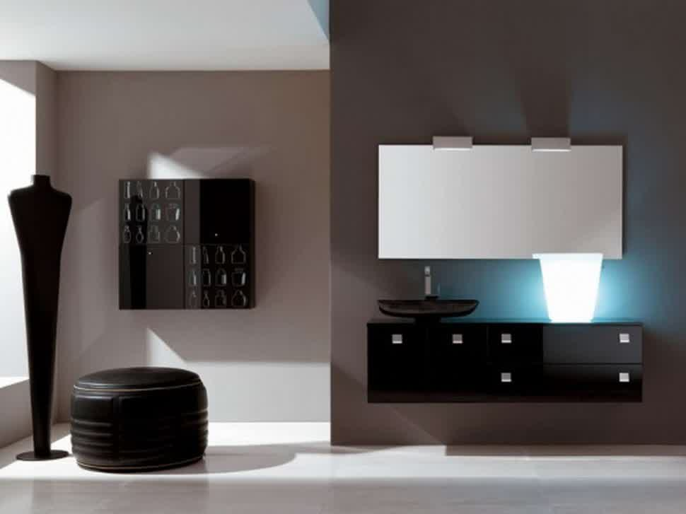 mirror over dresser ideas pictures remodel and decor floating dresser design idea in black with single black sink and stainless steel water faucet larger
