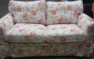 floral patterned love seat slip covers in white for cozy family room ideas