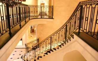 glamorous wrought iron stair railings interior with appealing design for creating perfect home interior