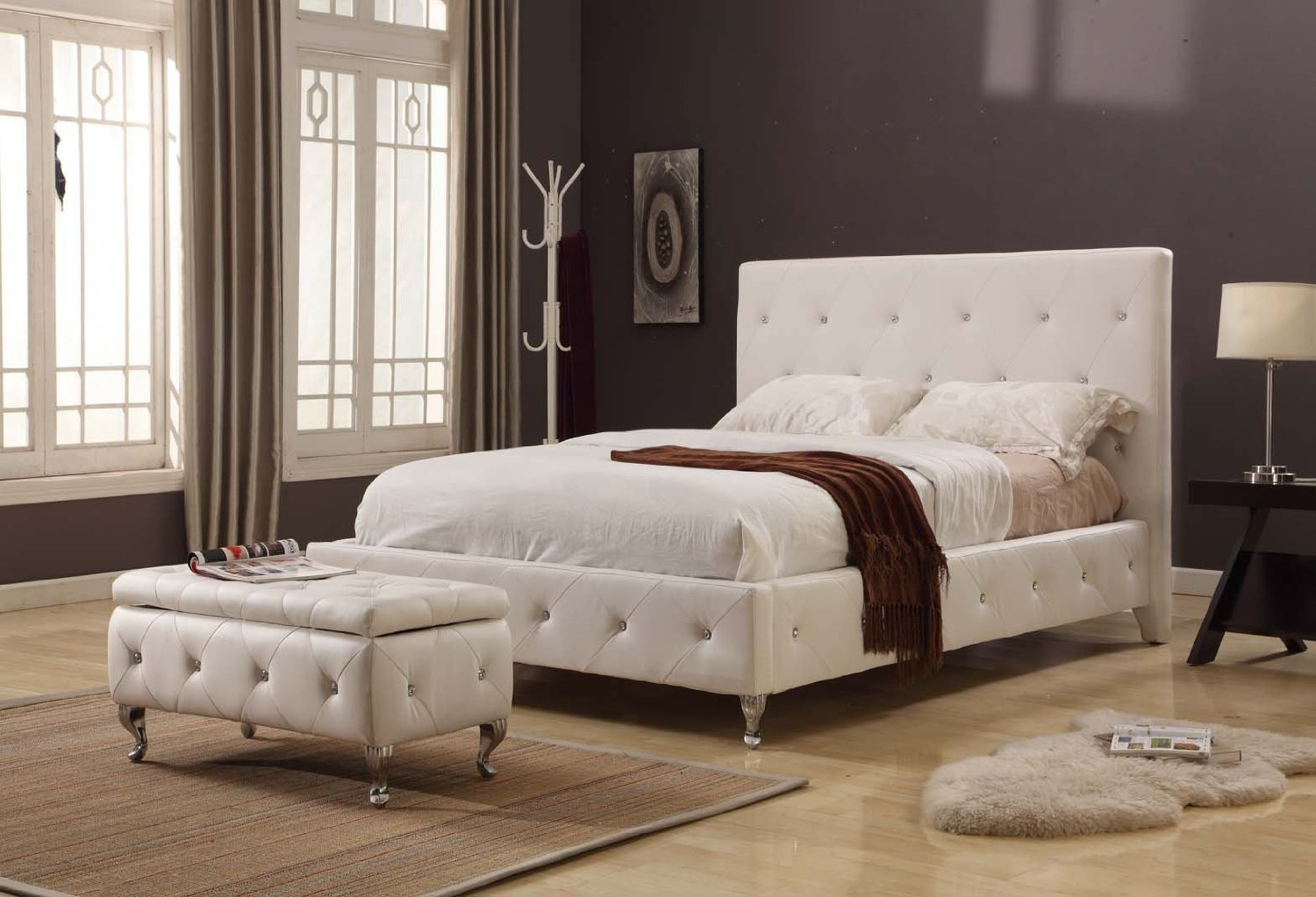 gorgeous and luxurious creamy tufted worth platform