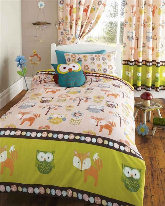 Enjoy your most precious time with sketchy owl bedding - Bedroom comforter and curtain sets ...