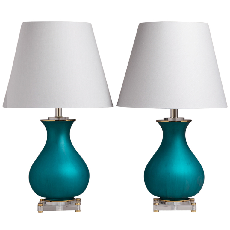 Unusual Table Lamps Gorgeous Design for Unique Interior  : gorgeous turquoise stand base unusual table lamp design and white shade vaulted from homesfeed.com size 768 x 768 jpeg 180kB