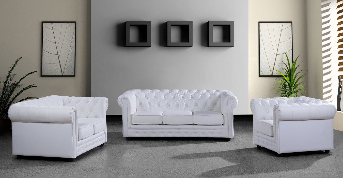 Ikea white leather sofa - Gorgeous White Ikea Leather Couch Idea Design With Curved Tufted Backrest And Indoor Plants