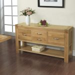 Gorgeous Wooden Small Console Table For Hallway Idea With Potted Flower And Wooden Floor And Wall Picture