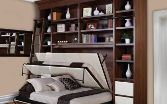 gorgeous wooden storage design with white murphy bed kit lowes on wooden floor with creamy painted wall