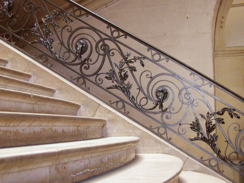 Gorgeous Wrought Iron Stair Railings Interior With Mesmerizing Ornaments  And Staircase