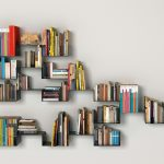 gorgeus wall mounted cool bookshelves design with family tree shape