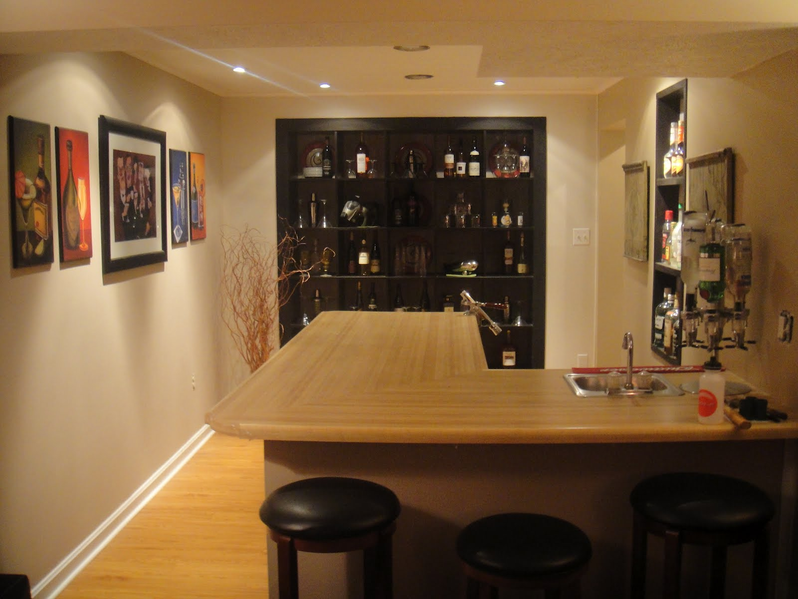 Home Bars Ikea In Small Spaces With Wooden Cabinets And Sectional