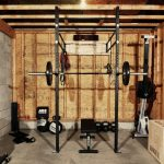home gym essentials with wooden wall and attractive design