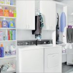 incredible laundry room shelf ideas with wooden storage in white together with hanging shelf ideas adorned with plants