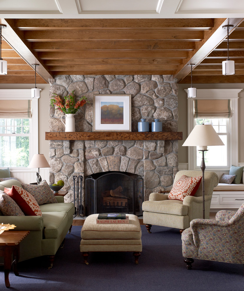 Rustic mantel d cor that will adorn your bored to death Living room design ideas with fireplace