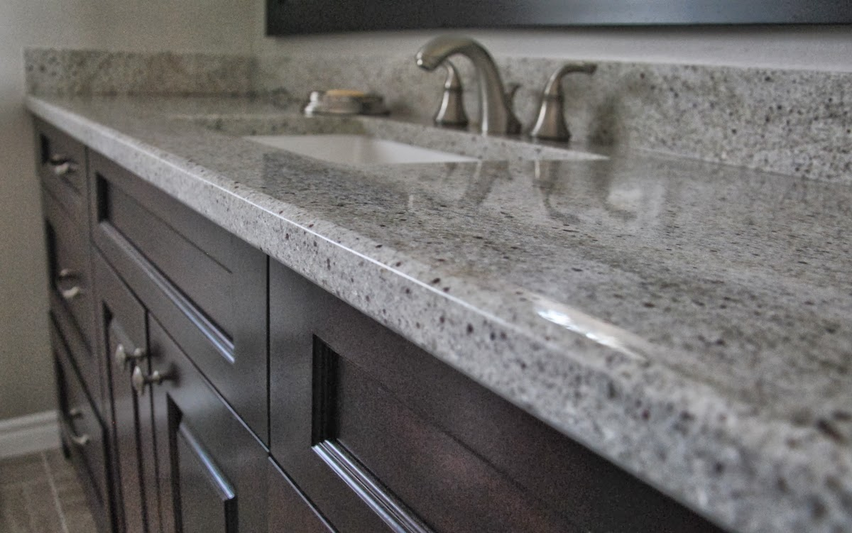 Kashmir white granite countertops showcasing striking Granite kitchen countertops pictures