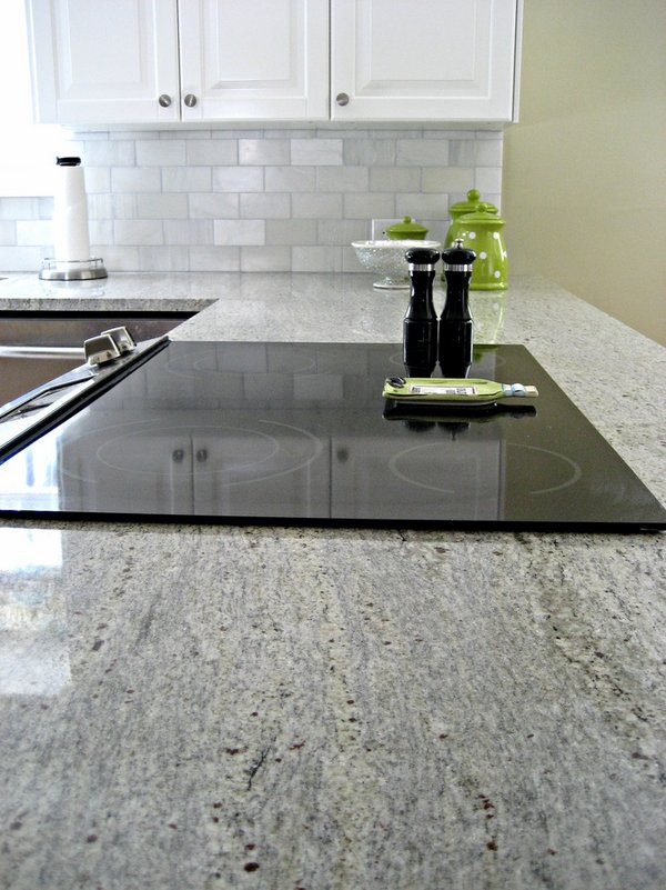 Kashmir White Granite Countertops Showcasing Striking