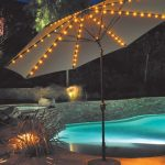 1139 Lighted Patio Umbrella Auto Tilt Galtech Patio Market Lighted Patio Umbrella Lighted Patio Umbrella