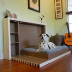 lovable interior bedroom design with brown murphy bed kit lowes with wooden floor and glass window