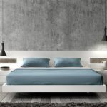 lovable soft blue bedding on worth platform bed design with pendant light and unique siding decoration