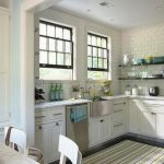 lovable white gray kitchen rug and mat in white kitchen with white cabinet and glass window and white dining table