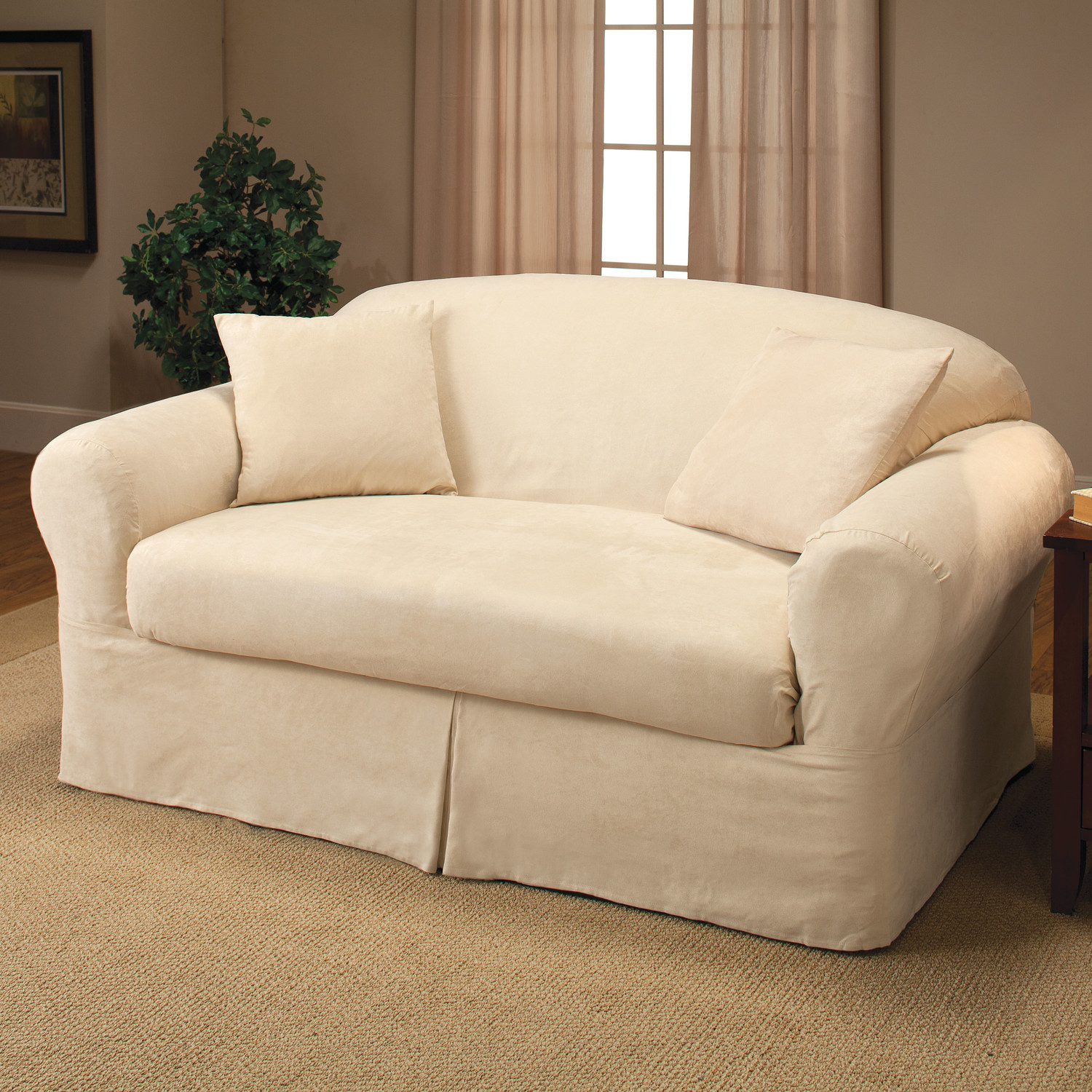 Love seat slip covers for stunning outlook in the living room homesfeed Loveseat cushion covers