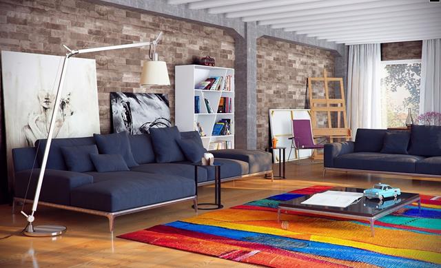 robot rug perfect idea of loft interior decoration that you should have