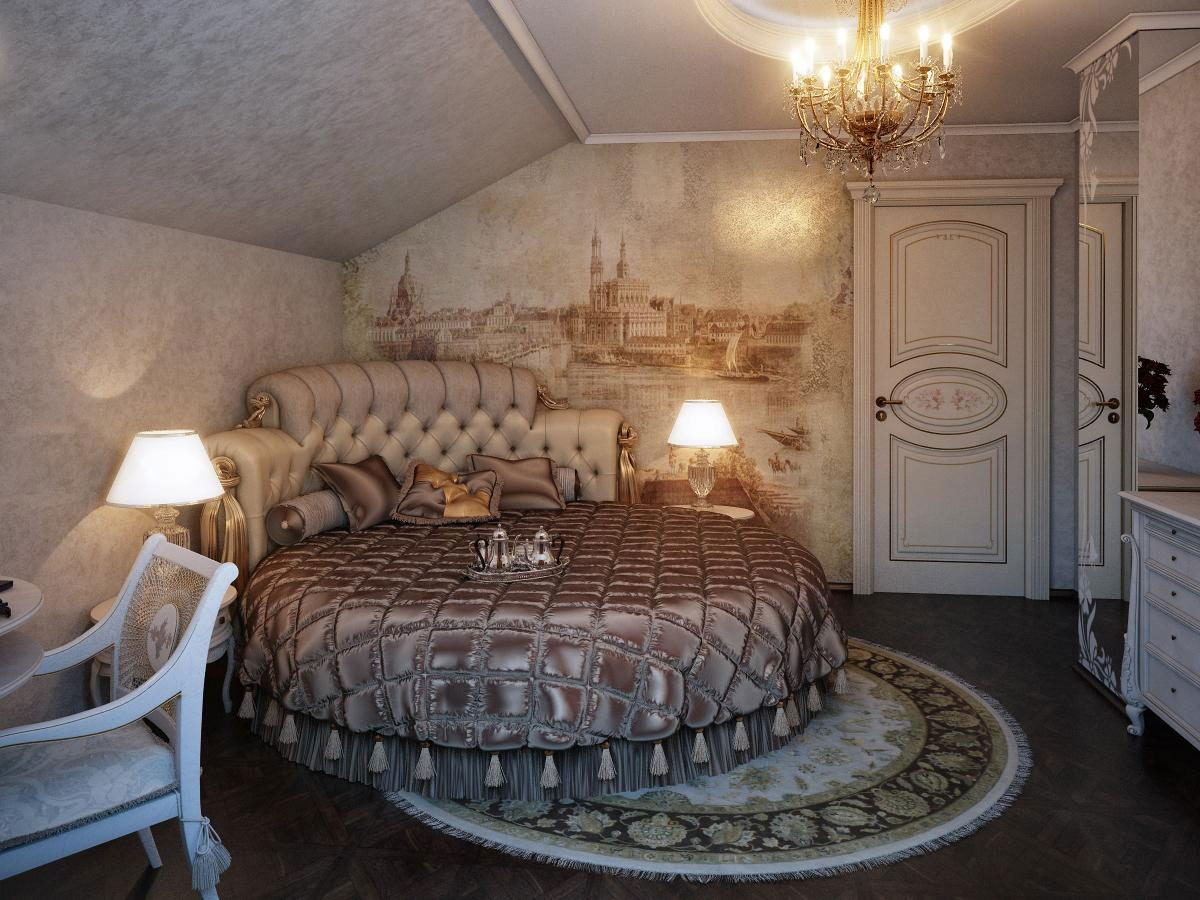 Sleep In Fancy And Fashionable Tone With Round Bed Homesfeed
