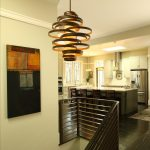 luxurious home ideas with wooden light fixtures attached on the ceiling